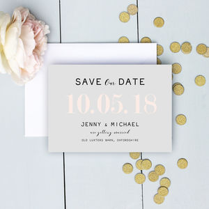 Modern Traditional Pastel Save The Date - new in wedding styling