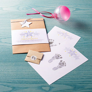 Baby's One St Christmas Inkless Hand And Footprint Kit - stocking fillers