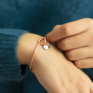 Rose Gold Friendship Knot Bangle - gifts for her