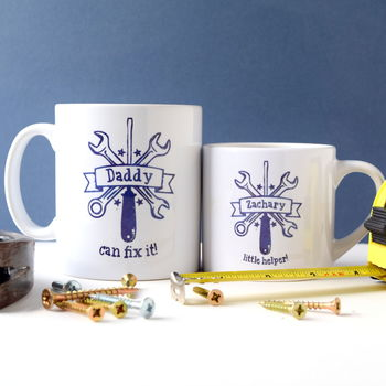 Personalised Daddy And Child Fix It Mugs