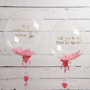 'Will You Be My Maid Of Honour?' Balloon - room decorations