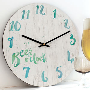 'Beer O'clock' Clock - shop by occasion