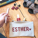 Personalised 'Glitter Name' Make Up Bag Square