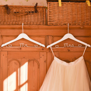 Personalised Wedding Coat Hangers - wedding dress hangers