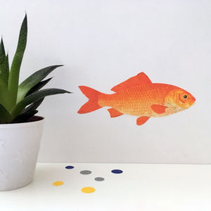 Goldfish Belated Gift Wall Sticker - winter sale