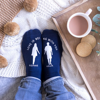 Personalised Love Is Being With You Socks