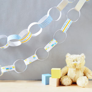 Baby Boy Paper Chain Kit - bunting & garlands