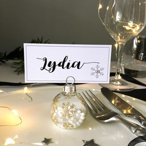 Personalised Bauble Christmas Place Settings - table decorations