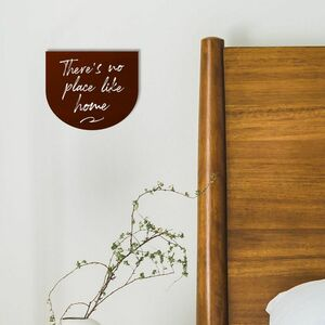 Theres No Place Like Home Leather Wall Hanging
