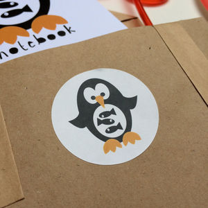 Penguin And Fish Stickers