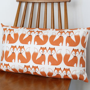 Foxy Fox Pattern Cushion