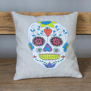 Sugar Skull Lavender Cushion Alternative Halloween Gift - bedroom