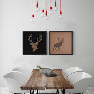 Laser Cut Stag's Heid Paper Artwork - art & pictures