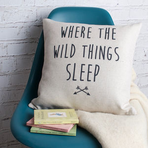 'Where The Wild Things Sleep' Cushion Cover