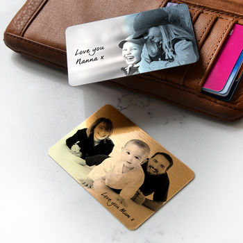 Personalised Wallet Or Purse Metal Photo Cards