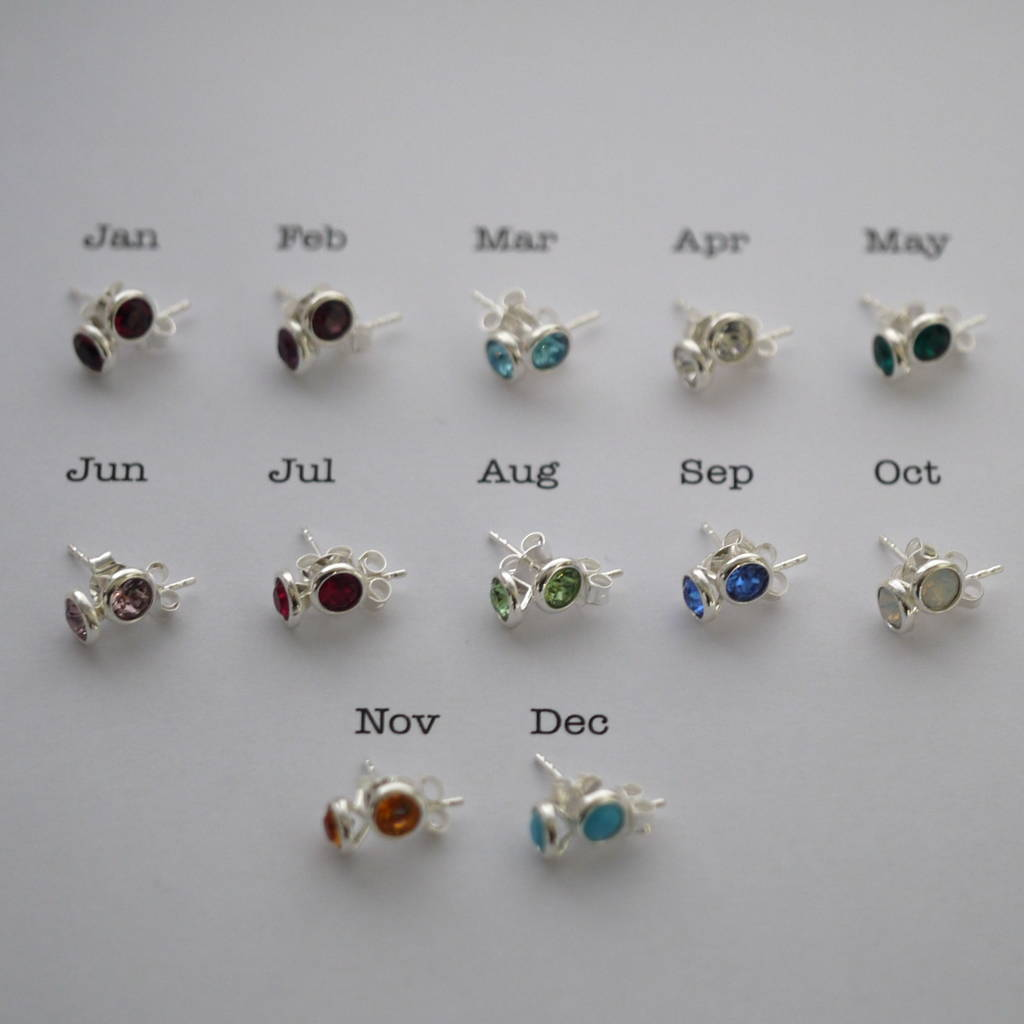 birthstone silver sterling colors aa products earrings