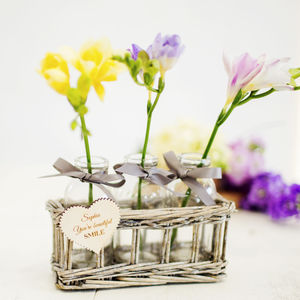 Personalised Flower Basket - flower baskets & boxes