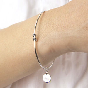 Personalised Infinity Knot Cuff Bangle - bracelets & bangles
