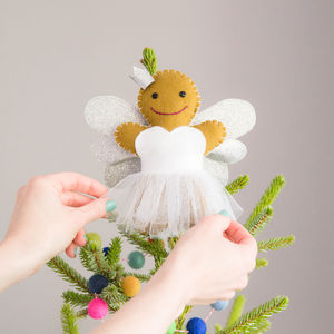 Gingerbread Angel Christmas Tree Topper - tree toppers