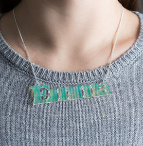Personalised Light Reflecting Acrylic Name Necklace - view all new