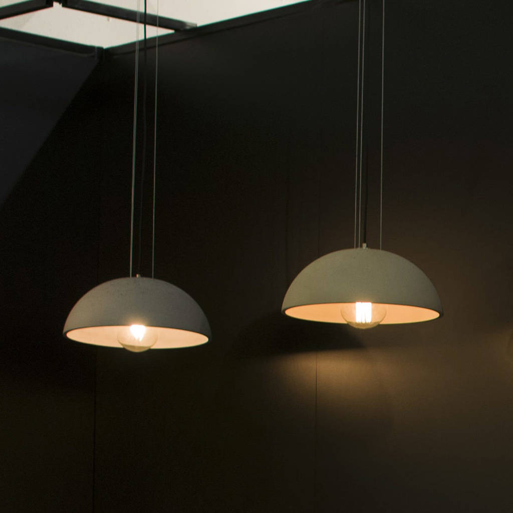 pendant by original light grattify product concrete dome globus