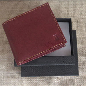 Men's Tan Leather Wallet 40% Off Gift Boxed