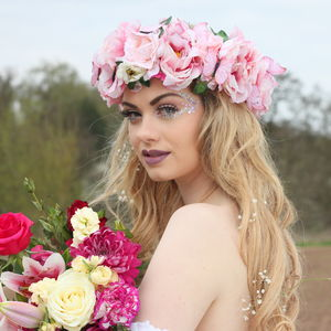 Butterfly And Peony Flower Crown - women's accessories