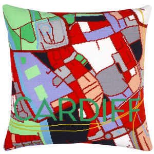 Contemporary Cardiff City Map Tapestry Kit