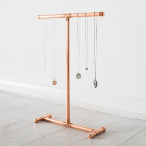 Copper Jewellery Stand For Necklaces And Bracelets
