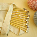 Nana knitting needles with cotton calico bag