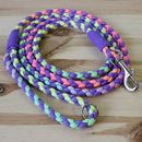 Pastel Rainbow Tie Dye Paracord Dog Lead