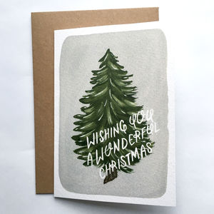 Wonderful Christmas Tree Greeting Card