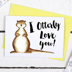 I Otterly Love You, Funny Valentine's Card