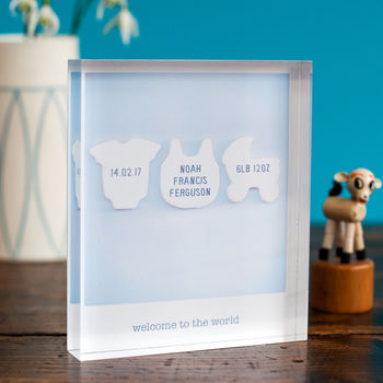 Personalised Birth Announcement Acrylic Block