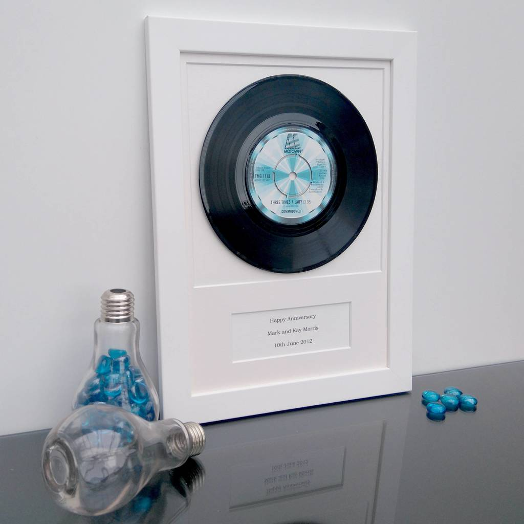 personalised framed vinyl record by vinyl village ...