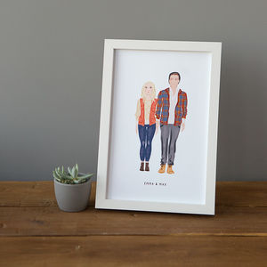 Personalised Couple Portrait - gifts for couples
