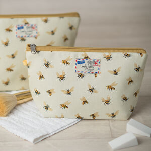 Bees Gift Honey Bee Makeup Toiletry Wash Bag