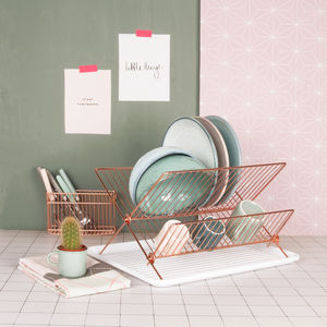 Copper Plated Dish Rack - kitchen