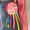 Handmade Little Sister/ Big Sister Rosette Badge