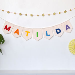 Personalised Name Bunting - bunting & garlands