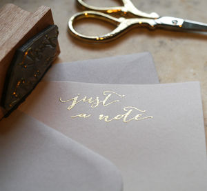 Invite And Note Card Stamp - weddings