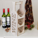 Wooden Wine Bottle Carrier Rack