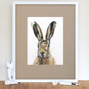 Startled Hare Signed Mounted Giclée Print