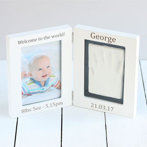 Personalised Baby Imprint Kit And Photo Frame