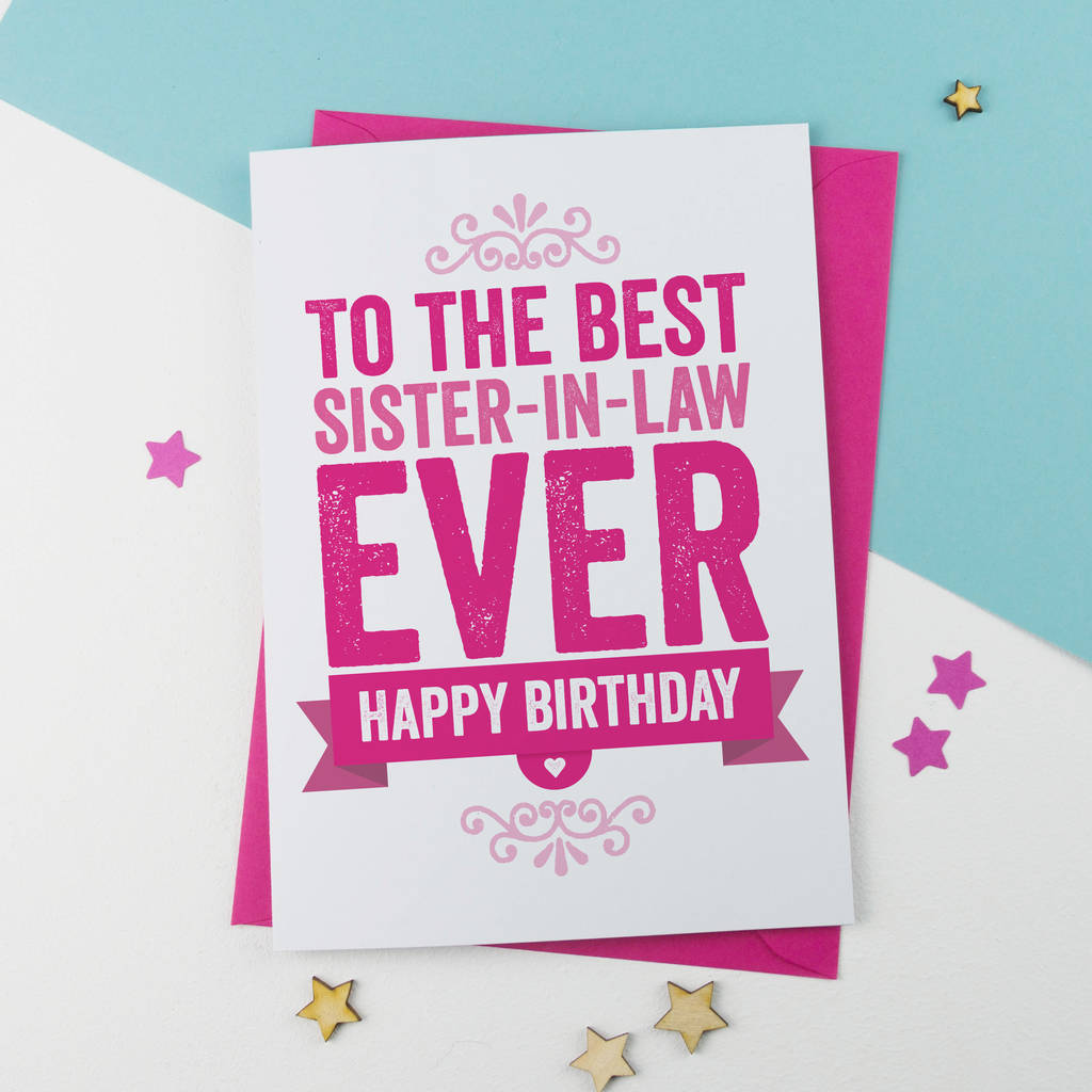 17 Best Images About Birthday Cards On Pinterest: Birthday Card For Sister In Law By A Is For Alphabet