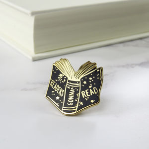 'Readers Gonna Read' Enamel Pin - tie pins & clips