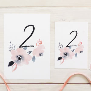 'Sweet Posey' Floral Table Number