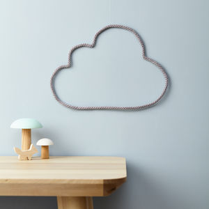 Cloud Knit And Wire Wall Decor