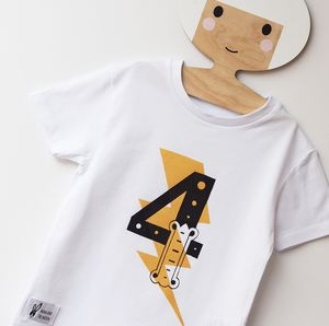 Kids Superhero Birthday Number T Shirt - clothing