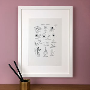 Personalised Graduation Memories Illustration Print - graduation gifts